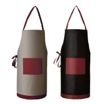 Two Tone Long Apron with Pocket